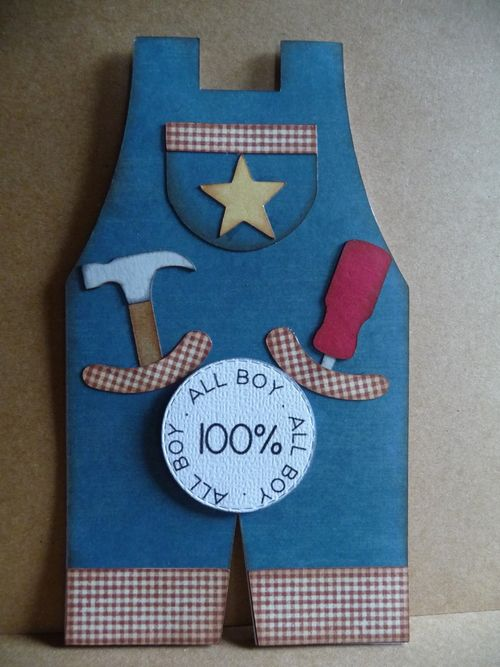All boy - Jeri Thomas - Overalls shaped card and all about boys set