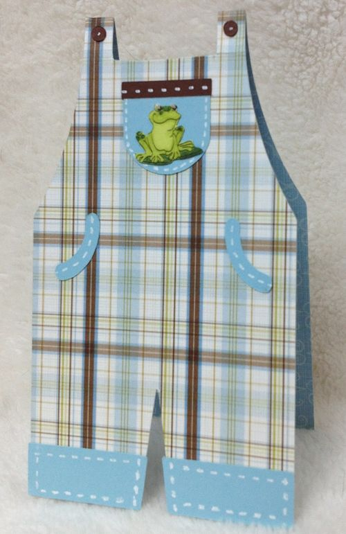 Overalls shaped card - Barbara Burgess