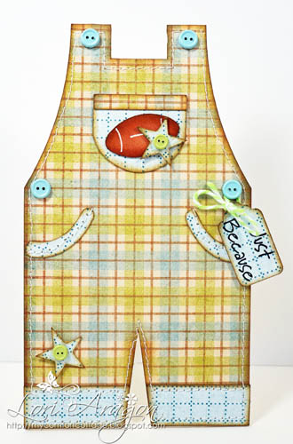 Overalls shaped card - Lori Aragon