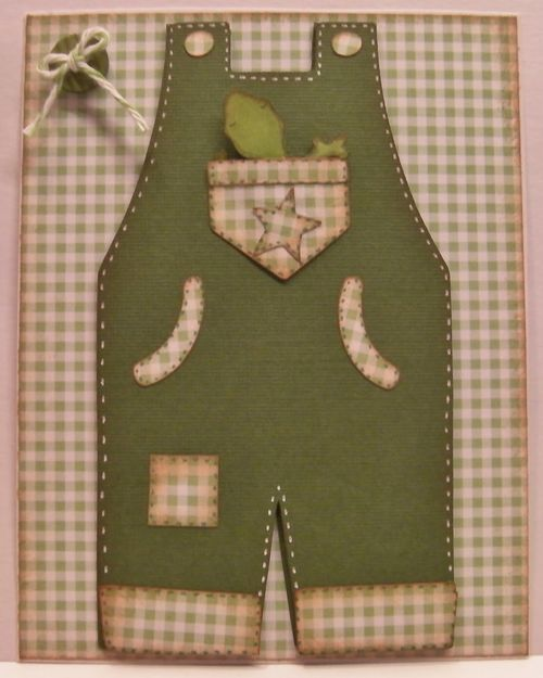 Overalls shaped card - Rhonda Zmikly