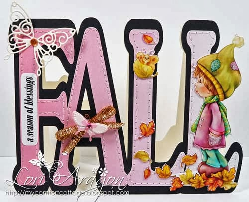 Fall word shaped card - Lori Aragon