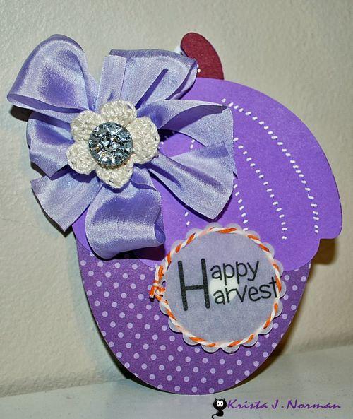 Happy Harvest - Acorn shaped card - Krista Norman