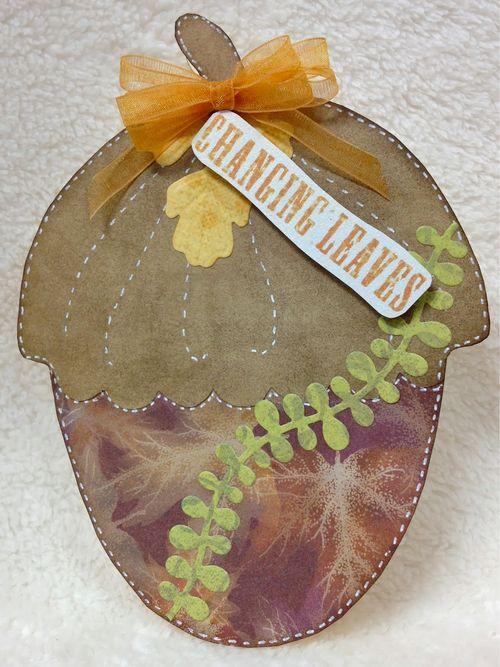 Acorn shaped card - Barbara Burgess