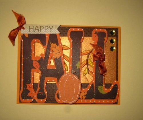 Fall word shaped card - Cathryn HYolzchuher