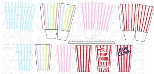 The cutting cafe popcorn box template cutting file set popcorn set 2 pronofoot35fo Image collections