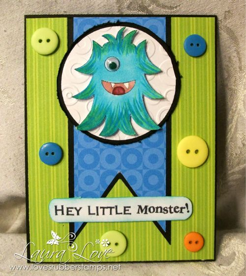Hey LITTLE monster - Laura Love - A bunch of monsters