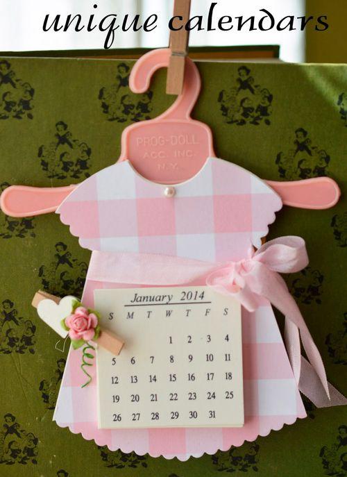 Dress calendar labeled