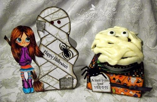 Happy Halloween - Laura Love - Mind your mummy and Cupcake holder set