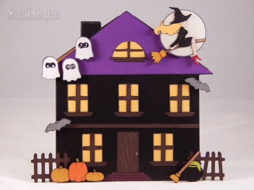 Haunted House - Sean Covert - House shaped card and Halloween and fall basic shapes