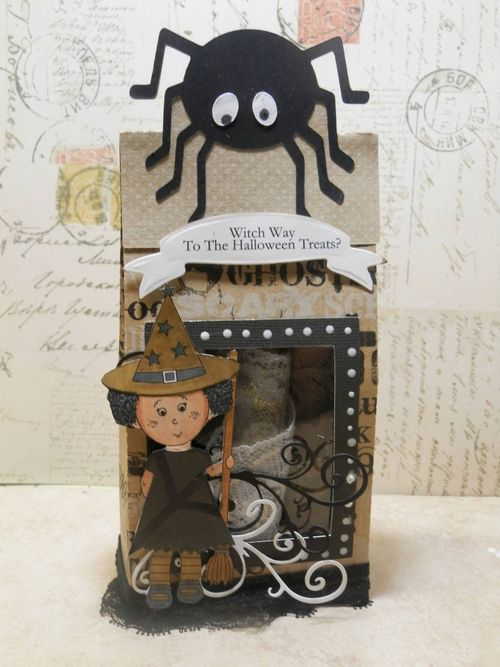 Witch Way - Tmika Miller - Halloween treat bags and Elisha Jean being a good witch