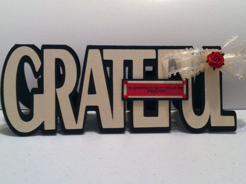 GRATEFUL - Katryce Townsend - Grateful word shaped card
