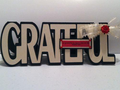 GRATEFUL - Katryce Townsend - Grateful word shaped card