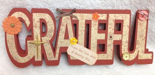 GRATEFUL - Barbara Burgess - Grateful word shaped card