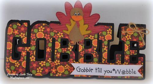 Gobble - Leslie Foley - gobble word shaped card