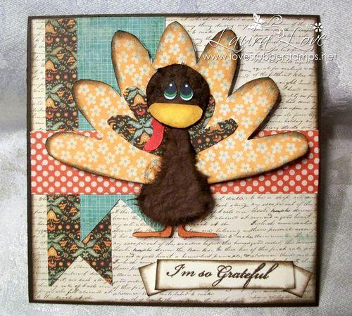 Turkey shaped card - Laura Love