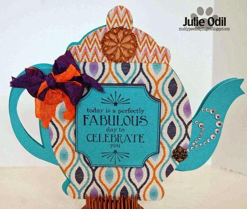 Julie Odil - Teapot shaped card