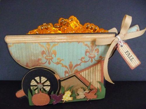 Fall - Jeri Thomas - Wheelbarrow treat box