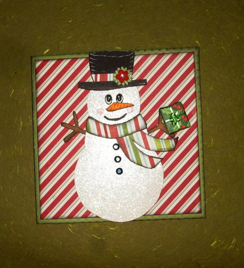 Snowman shaped card - Cathryn Holzschuher