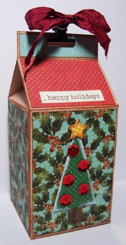 Christmas Milk Cartons - Debbie Fisher