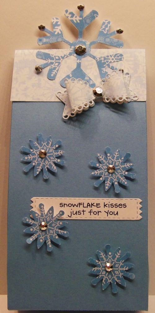 Snowflake Kisses - Rhonda Zmikly - Christmas bag toppers