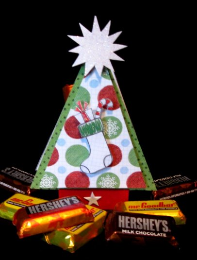 Christmas tree treat box - Cathryn Holzschuher