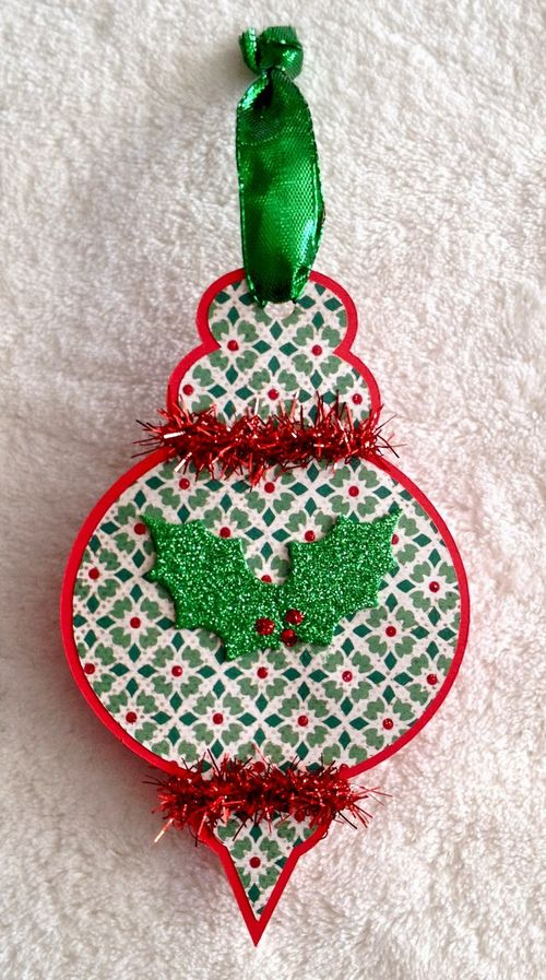 Christmas ornament fun - Barbara Burgess