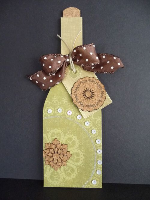 WINE BOTTLE SHAPED CARD - Jeri Thomas