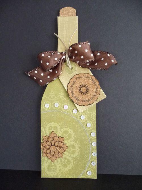 WINE BOTTLE SHAPED CARD - Jeri Thomas
