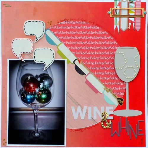 WINE - WINE GLASS SHAPED CARD - Mitra Pratt