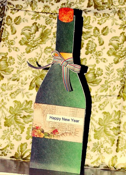 WINE BOTTLE SHAPED CARD - Holly Hudspeth
