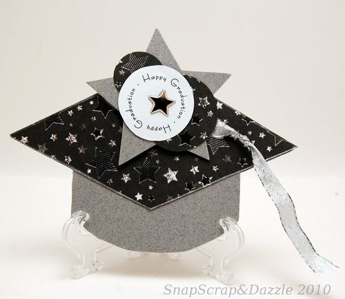 Nance Salkeld - Grad hat shaped card 2