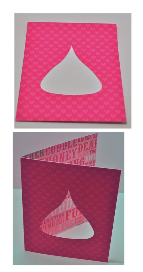 Heart folded card