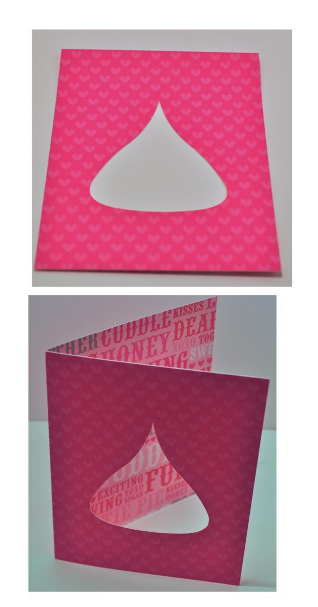 Heart folded card