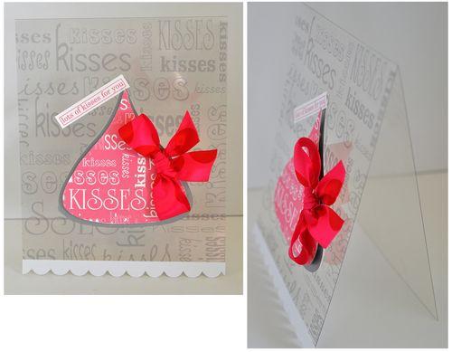 Kisses clear card