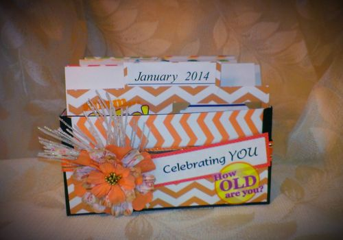 Celebrating you - Cauntelle Lee - Card box organizer