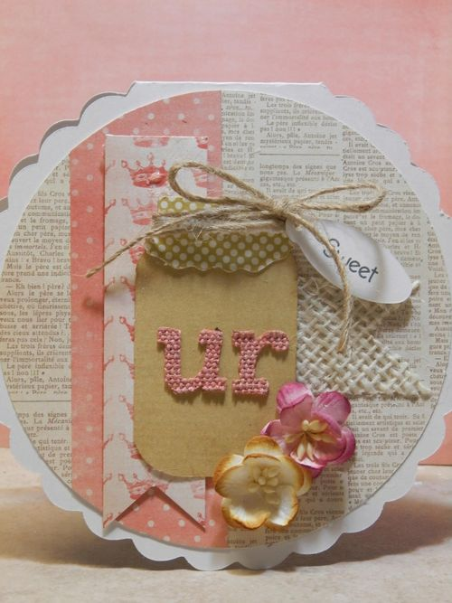 Tmika Miller - Scallop shaped card and fun with jars and berry sweet greetings