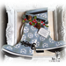 Rainboots shaped card - Lisa Minckler