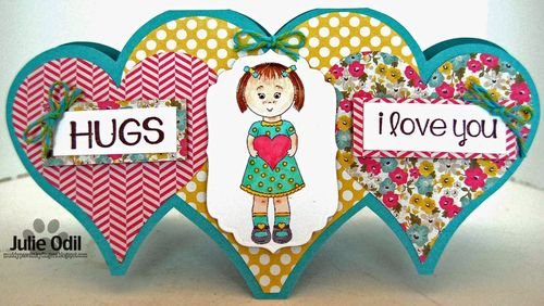Mikala Ann with a big heart and Heart shaped card 2 - Julie Odil