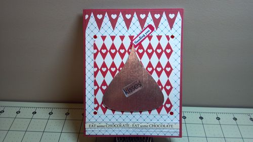 Kisses - Hershey Kiss shaped card -Audrey Long