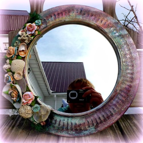 Mirror - Paper flowers - Mitra Pratt