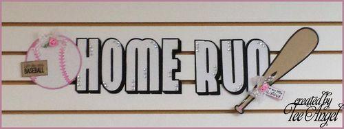 HOME-RUN - baseball and bat shaped card - Tee Angel