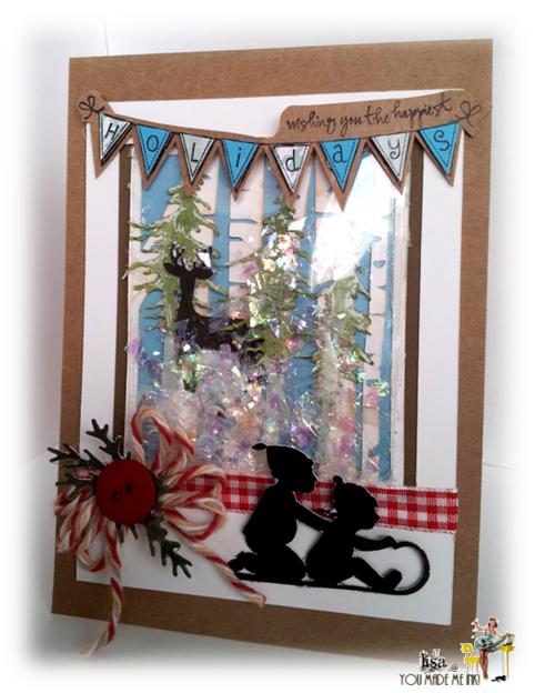 Holidays - Lisa Minckler - Polaroid shaker card set