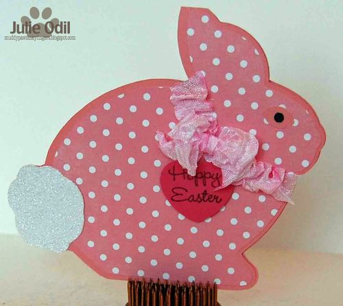Happy Easter - Julie Odil - Easter bunny shaped card 2