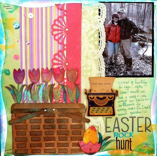Tulip basket shaped card - Mitra Pratt