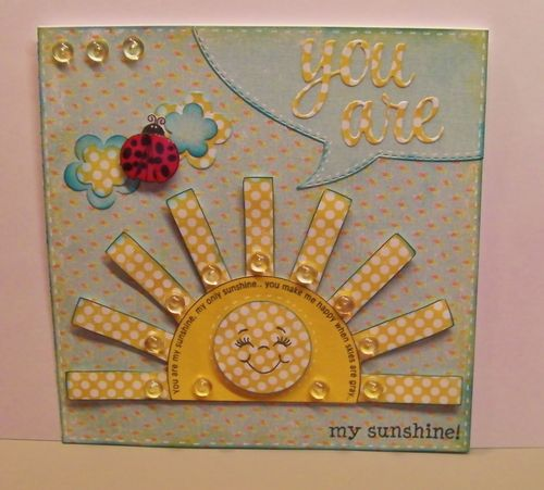 My sunshine - Rhonda Zmikly - Sun shaped card
