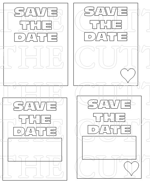 SAVE THE DATE OVERLAYS