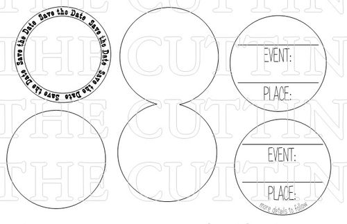 SAVE THE DATE CIRCLE CARD