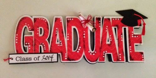 GRADUATE WORD SHAPED CARD - TINA GOODWIN