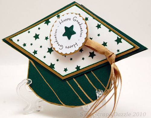 Nance Salkeld - Grad hat shaped card