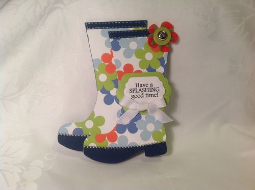 Rainboots shaped card - Katryce Townsend